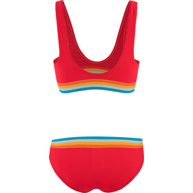 speedo Solid U-back 2-delige Bikini Dames, lava red/orange fizz/mango